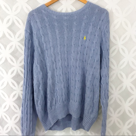 Polo Ralph Lauren Cable Knit 100% Silk Sweater